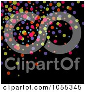 Royalty Free Clip Art Illustration Of A Background Of Colorful Dots On Black