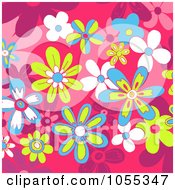 Background Of Flowers On Pink