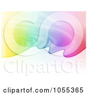 Royalty Free Clip Art Illustration Of A Rainbow Puddle Background by NL shop