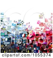 Royalty Free Clip Art Illustration Of A Background Of A Collage Of Pictures On White 1 by NL shop