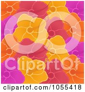 Royalty Free Vector Clip Art Illustration Of A Background Pattern Of Colorful Hibiscus Flowers by elaineitalia