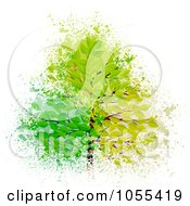 Royalty Free Vector Clip Art Illustration Of A Summer Tree Over Grunge by elaineitalia