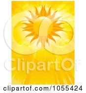 Royalty Free Vector Clip Art Illustration Of A Summer Sun With Lens Flares And Rays by elaineitalia