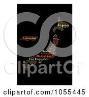Royalty Free Clip Art Illustration Of A Japan Radiation Word Collage 6 by MacX