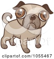 Royalty Free Vector Clip Art Illustration Of A Cute Pug Puppy by John Schwegel