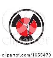 Cracking Globe Over A Radiation Symbol