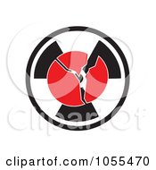 Royalty Free Clip Art Illustration Of A Cracking Globe Over A Radiation Symbol by MacX