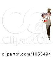 Royalty Free Vector Clip Art Illustration Of A Black Wedding Couple Background