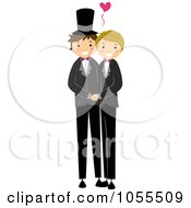 Royalty Free Vector Clip Art Illustration Of A Gay Wedding Couple