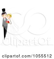 Royalty Free Vector Clip Art Illustration Of A Wedding Couple Background
