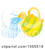 Royalty Free Clip Art Illustration Of A Water Jar by Alex Bannykh