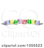Royalty Free Vector Clip Art Illustration Of Alphabet Blocks Spelling LEARNING