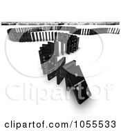 Royalty Free Clip Art Illustration Of 3d Dominoes The First One In Line Tipping