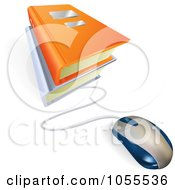 Royalty Free Vector Clip Art Illustration Of A Computer Mouse Connected To E Books