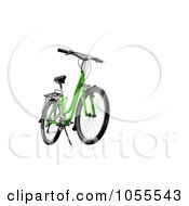 Royalty Free CGI Clip Art Illustration Of A 3d Green Mountain Bike On White