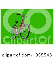 Royalty Free CGI Clip Art Illustration Of A 3d Mountain Bike On Green