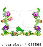 Floral Frog Border