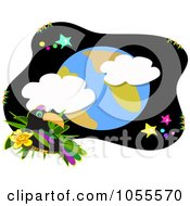Royalty Free Vector Clip Art Illustration Of A Toucan And Earth by bpearth