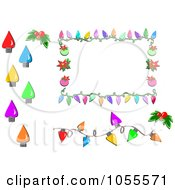 Digital Collage Of A Christmas Lights A Border And A Frame