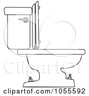 Royalty Free Vector Clip Art Illustration Of A Coloring Page Outline Of A Toilet by djart