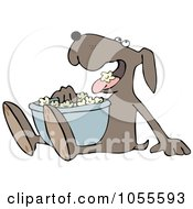 Royalty Free Vector Clip Art Illustration Of A Dog Eating Popcorn by djart