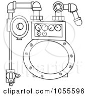 Royalty Free Vector Clip Art Illustration Of A Coloring Page Outline Of A Gas Meter by djart