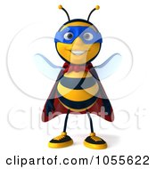 Royalty Free CGI Clip Art Illustration Of A 3d Super Honey Bee by Julos