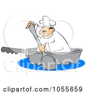 Chef Paddling In A Pan