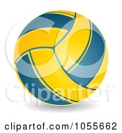 Royalty Free Vector Clip Art Illustration Of A 3d Water Polo Ball
