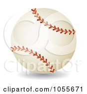 Royalty Free Vector Clip Art Illustration Of A 3d Baseball