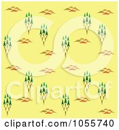 Royalty Free Vector Clip Art Illustration Of A Seamless Forest Background On Yellow