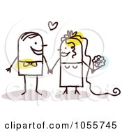 Royalty Free Vector Clip Art Illustration Of A Stick Couple Getting Hitched by NL shop
