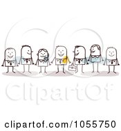 Royalty Free Vector Clip Art Illustration Of A Stick Man Business Team