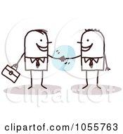Royalty Free Vector Clip Art Illustration Of Stick Men Shaking Hands by NL shop #COLLC1055763-0109