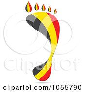 Royalty Free Vector Clip Art Illustration Of A Belgium Flag In The Shape Of A Footprint by Andrei Marincas