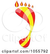 Royalty Free Vector Clip Art Illustration Of A Spain Flag In The Shape Of A Footprint by Andrei Marincas
