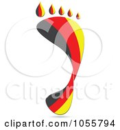Royalty Free Vector Clip Art Illustration Of A German Flag In The Shape Of A Footprint by Andrei Marincas