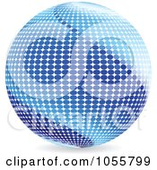 Royalty Free Vector Clip Art Illustration Of A Shiny Blue Sphere by Andrei Marincas #COLLC1055799-0167