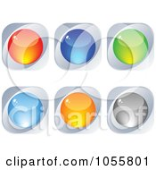 Royalty Free Vector Clip Art Illustration Of A Digital Collage Of Colorful And Silver Web Buttons by Andrei Marincas