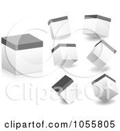 Royalty Free Vector Clip Art Illustration Of A Digital Collage Of Boxes Viewed At Different Angles by Andrei Marincas