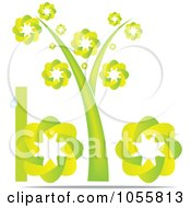 Royalty Free Vector Clip Art Illustration Of A Green Bio Icon With A Tree As The I