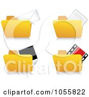 Royalty Free Vector Clip Art Illustration Of A Digital Collage Of Archive Folder Icons