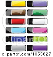 Royalty Free Vector Clip Art Illustration Of A Digital Collage Of Colorful Web Banner Icons