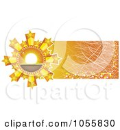 Royalty Free Vector Clip Art Illustration Of A Billboard Sign With A Sunset And Star Burst by Andrei Marincas