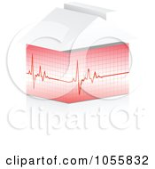 Royalty Free Vector Clip Art Illustration Of A Heart Beat Graph by Andrei Marincas