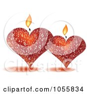 Royalty Free Vector Clip Art Illustration Of Two 3d Music Candles by Andrei Marincas