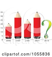 Royalty Free Vector Clip Art Illustration Of A Chart Of Red Pencils And A Question Mark by Andrei Marincas