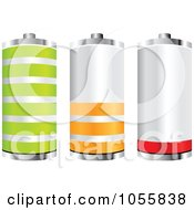 Royalty Free Vector Clip Art Illustration Of A Digital Collage Of Batteries At Different Charge Levels