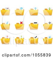 Royalty Free Vector Clip Art Illustration Of A Digital Collage Of Web Folder Icons by Andrei Marincas