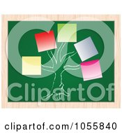 Royalty Free Vector Clip Art Illustration Of A Tree With Sticky Note Tags On A Chalkboard by Andrei Marincas